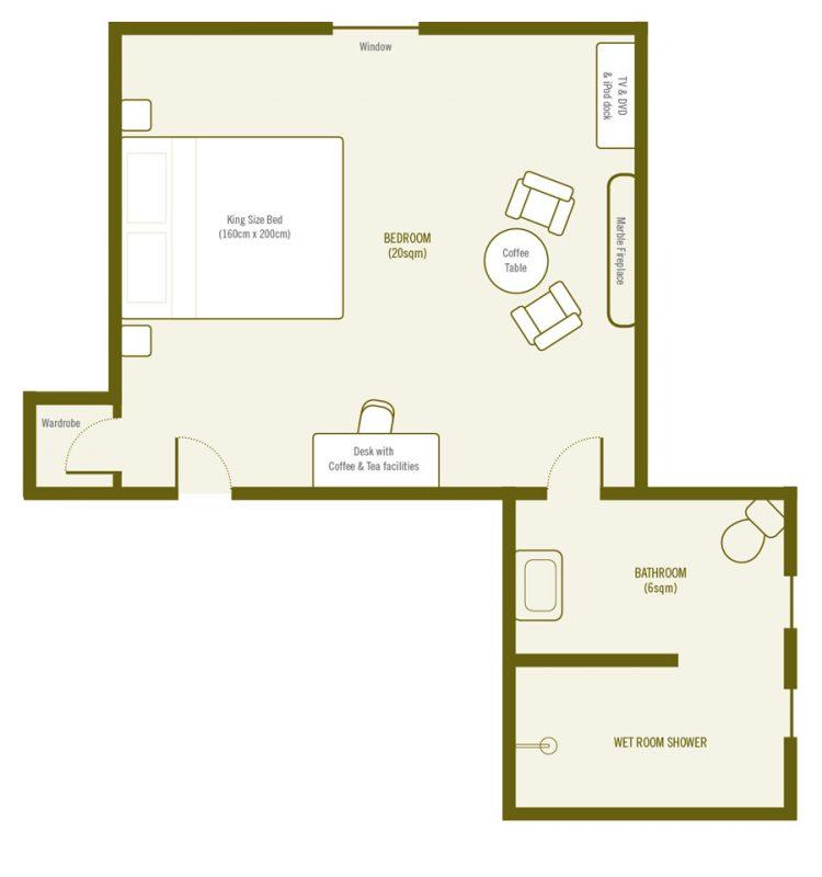 Plan de Chambre Classique La Villa de Maamet, Chambre et Table D'hote De Luxe Mazamet, Tarn