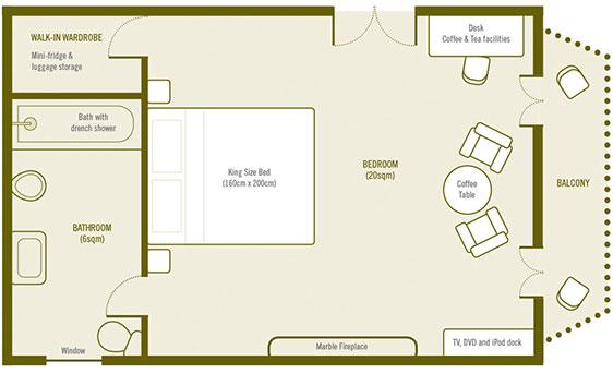 Plan de Chambre Superieure avec Balcon a La Villa de Maamet, Chambre et Table D'hote De Luxe Mazamet, Tarn