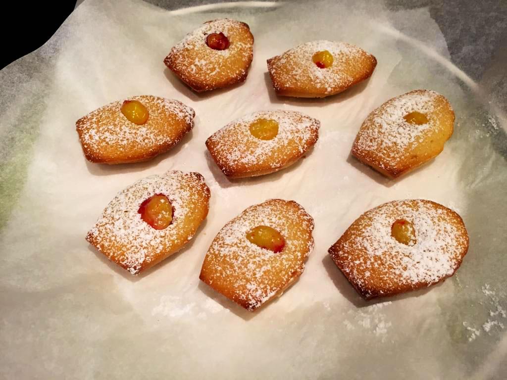 De jolies madeleines prêtes à être dégustées !