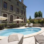 Pool - Low View from Corner Sun Loungers Chambres d'Hôtes Mazamet La Villa de Mazamet Luxury Bed and Breakfast SW France