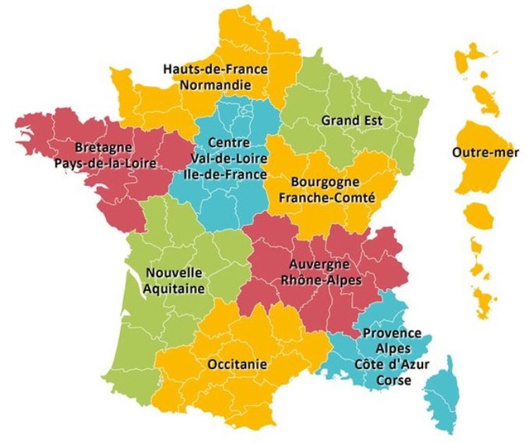Map Of Regions Of France.The New Regions Of France La Villa De Mazamet