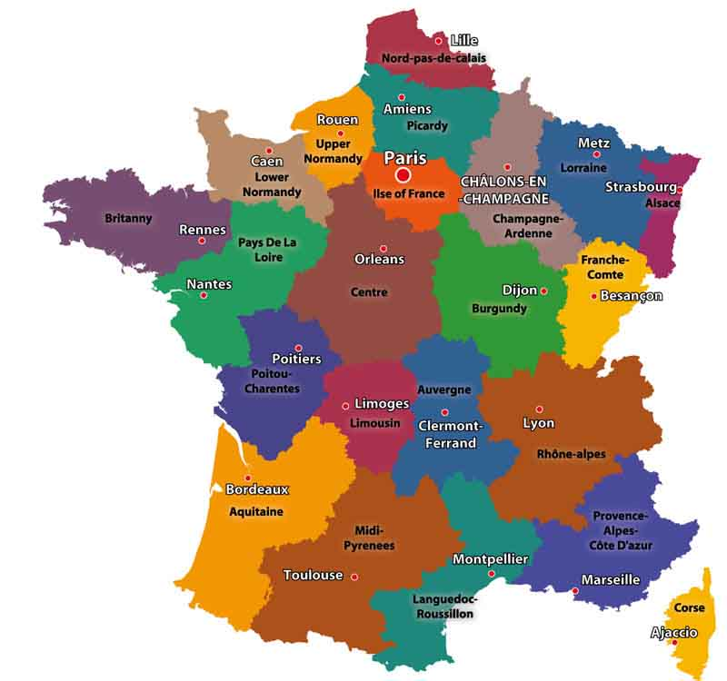 old regions of France