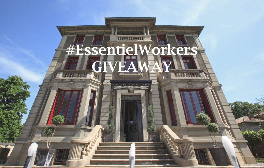 #essentialworkers giveaway 2-night stay at La Villa de Mazamet