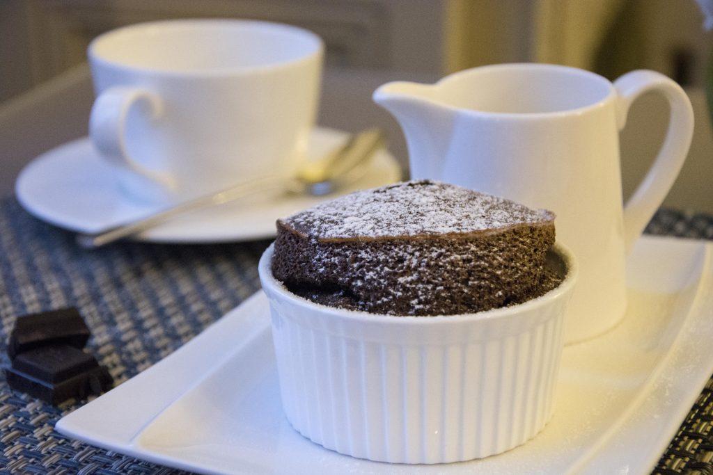 Chocolate soufflé - light and airy goodness at La Villa de Mazamet